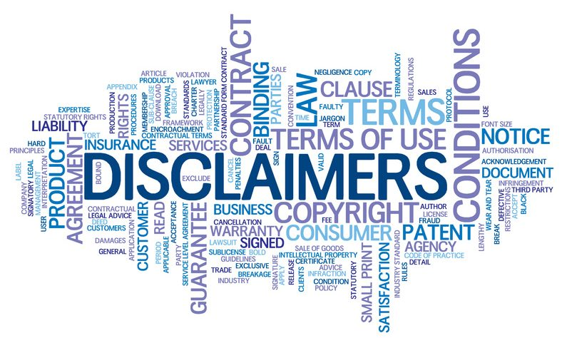 Disclaimer – Copyright